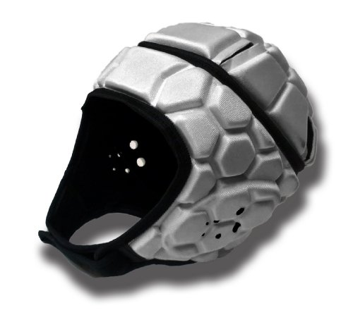 silver football helmet - 7