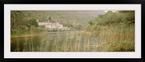 greatBIGcanvas Kylemore Abbey County Galway Ireland Entitled Photographic Print with Black Frame, 48