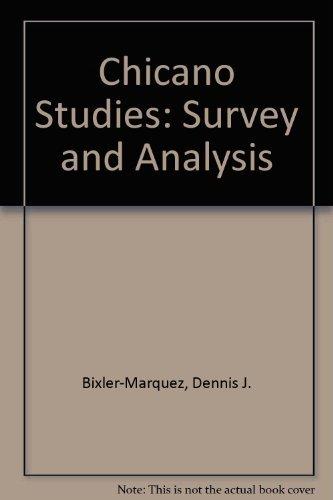 Chicano Studies: Survey and Analysis