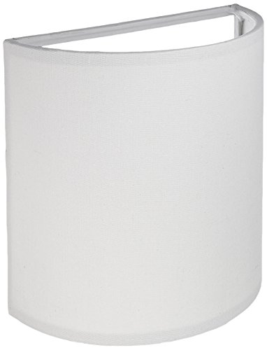 Artcraft Lighting Mercer Street Drum Shade Light, White with White Linen Shade