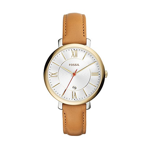 Fossil-Womens-ES3737-Jacqueline-Gold-Tone-Stainless-Steel-Watch-with-Leather-Band