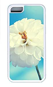 Cases For iPone 5C - Summer Unique Cool Personalized Design A Large White Flowers Under The Blue Sky