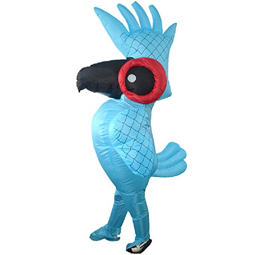 yunzhenbusiness, Inflatable Parrot Costume Blow up Fancy Dress Halloween Cosplay Costume (Parrot), Blue, Large -