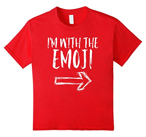 Kids I'm With The Emoji Funny Quick Cute Halloween Costume Shirt 10 Red