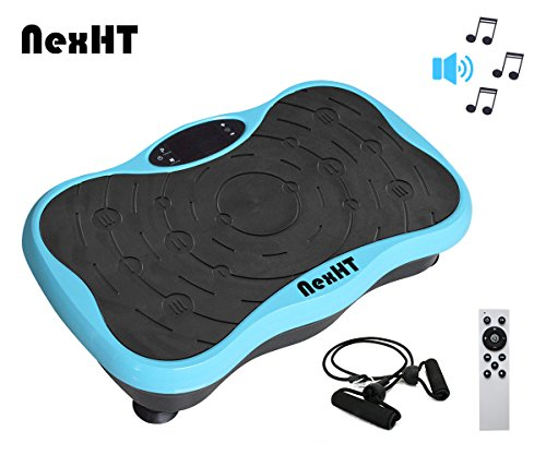 Cheap NexHT Fitness Vibration Platform,Whole Full Body Shape Exercise Machine,Vibration Plate,Fit Massage Workout Trainer with Two Bands &Remote,Max User Weight 330lbs. (Blue Mini 89020A)