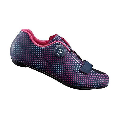 SHIMANO SH-RP501 High-Performance Road Endurance Cycling Bicycle Shoes, Navy Dot, ()