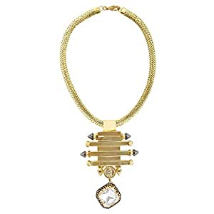 Arabella Luxuries Ladies Gold Plated Gold Majesty Necklace and Pendant, 44 cm
