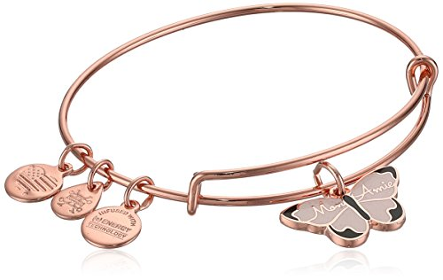 Alex And Ani Color Infusion  Mon Ami Butterfly Ewb  Shiny Rose  Expandable