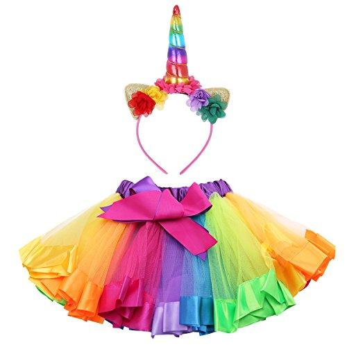 Tiaobug Arc Jupe Robe Tutu Avec Soirée Dansante De Ballet Enfants Bandeau Filles Photographie Tenues Colorées