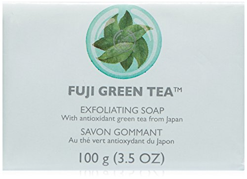 The Body Shop Fuji Exfoliating Soap, Green Tea, 100 - Tea Body Green Works