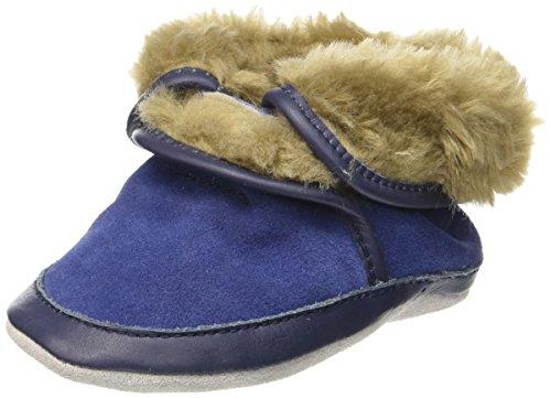 Robeez Baby Jungen Cosy Boot Krabbelschuhe Blau (Marineblau)