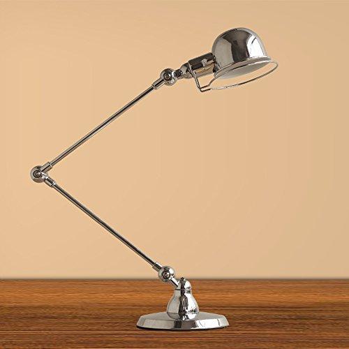 CGJDZMD Vintage Mechanical Arm Telescopic Folding Metal Table Lamp Desk Light LED Adjustable Swing Arm Desk Lamp Restaurant Living Room Bedroom Bench Desktop Lighting Reading Light (Color : -
