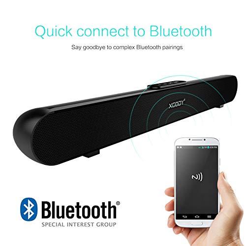TV Sound Bar XGODY 20'' G-XS01 Wireless Wired Audio Surround Soundbar Bluetooth 5.0 Speaker with 2.0 Channel Sound System by XGODY (Image #2)