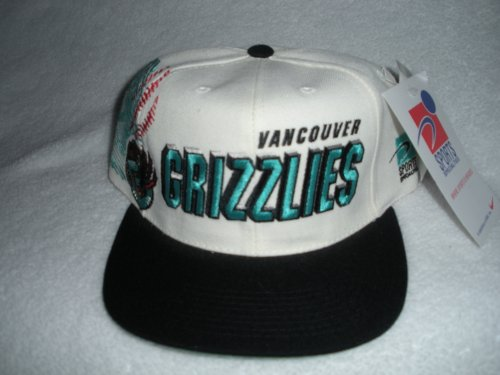 Vancouver Grizzlies Vintage Sports Specialties Shadow-Script Snapback Hat by Sports Specialties/Nike