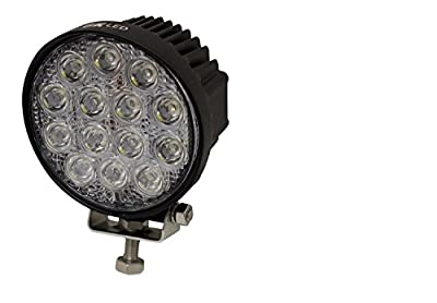 6K LED Work Light Round Shaped 42w Flood Auto and Offroad Lighting Tractor SUV Folklift 4.5inch Extra Lighting Airboat Fishing Boat 12-24volt Atv Snowmobile Truck Quad ATV (pack of 2)