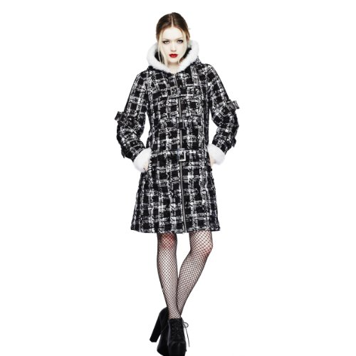 White Noir Court Hell Fur Manteau Coat Bunny Celina 0gFXw4q