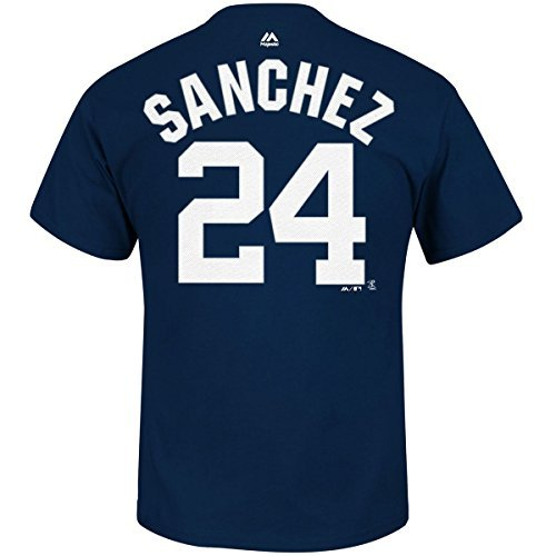 Majestic Gary Sanchez New York Yankees #24 Youth Player T-Shirt (Youth XLarge 18)