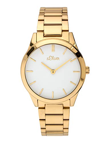 s.Oliver Time Womens Analogue Quartz Watch with Stainless Steel Strap SO-3625-MQ