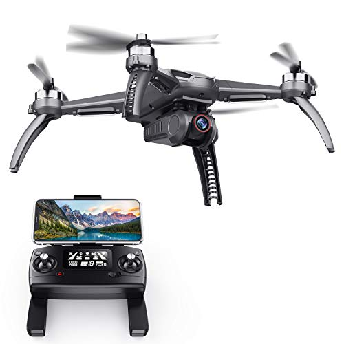 SANROCK B5W GPS Drones with 4K UHD Camera for Adults Kids Beginners, Quadcopter with Brushless Motor, 5GHz FPV…