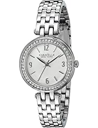 CARAVELLE NEW YORK Womens 43L185 Dress White Dial Watch