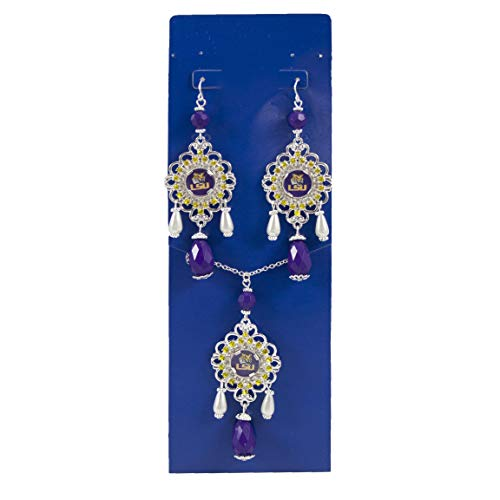 - NCAA LSU Tigers Baroque Necklace and Earring Set