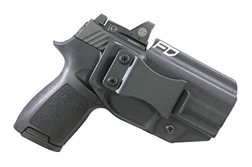 Fierce Defender IWB Kydex Holster Sig P320c RX w/Optic Cut The Winter Warrior Series -Made in USA- (Black)