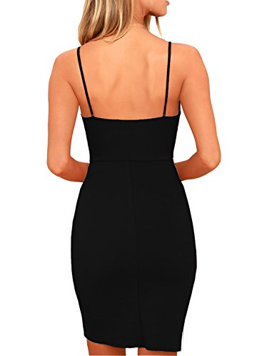 9f2ca4a7a Zalalus Women's Bodycon Cocktail Party Dresses Deep V Neck Backless  Spaghetti Straps Sexy Summer Short Casual