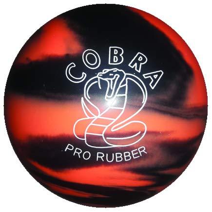 EPCO-Duckpin-Bowling-Ball-Cobra-Pro-Rubber-Orange-Black-Single-Ball