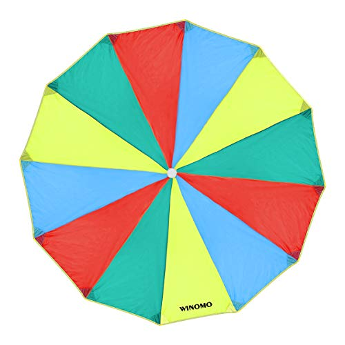 VORCOOL WINOMO Kids Play Parachute Rainbow Kindergarten Early Education Toy for Party Sports Activities Group Exercise Outdoor