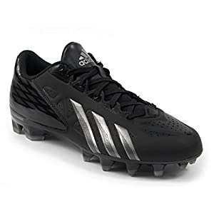 adidas FilthyQuick Men's Football Cleats (10, Black/Platinum/Titanium)