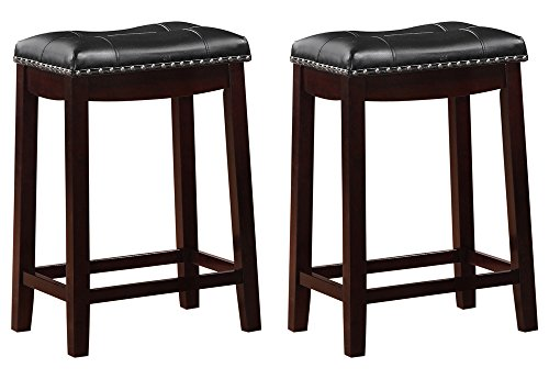 Angel Line 43415-49 Cambridge Padded Saddle Stool with Cushion, 24