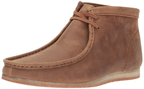 (CLARKS Men's Wallabee Step Boot Chukka, Tan Leather, 8 M US)