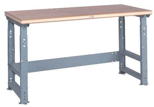 Lyon Workbench (Lyon DD2565AS Comfort Edge Laminated Hardwood Top Adjustable Slide Bolt Legs Work Bench with Stringer, 60