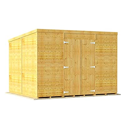Pent Tongue and Groove Garden Shed 10x8