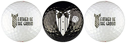 Father of the Groom Wedding Variety Golf Ball Gift Set by EnjoyLife Inc (Image #1)