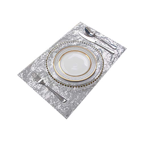Eternal Beauty Sequin Placemats Set of 10, Double Sided 18