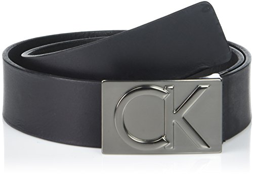 Calvin Klein Mens Flat - Calvin Klein Men's Calvin Klein 38mm Flat Strap Smooth, Matte Leather Belt, black Matte black, 30