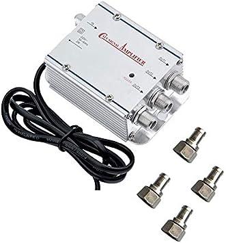 Amplificador para antena de TV, analógica o digital con 3 ...