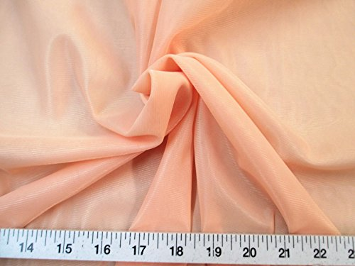 Yard Fabric Nylon 40 Denier Tricot Stretch Light Peach 108 inch Wide TR08
