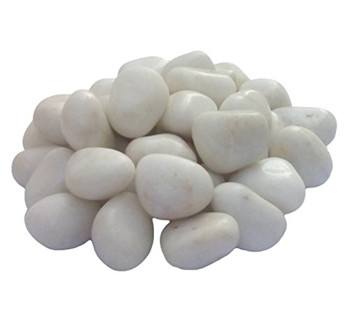 Femora White Glossy Pebbles Non-Toxic Lead Free Vase Filler, Table Scatter, Home Decoratives, Garden Decoratives— Beautiful, Smooth, Fun, Vibrant Colors Crafted-4.4 Pouds by Femora