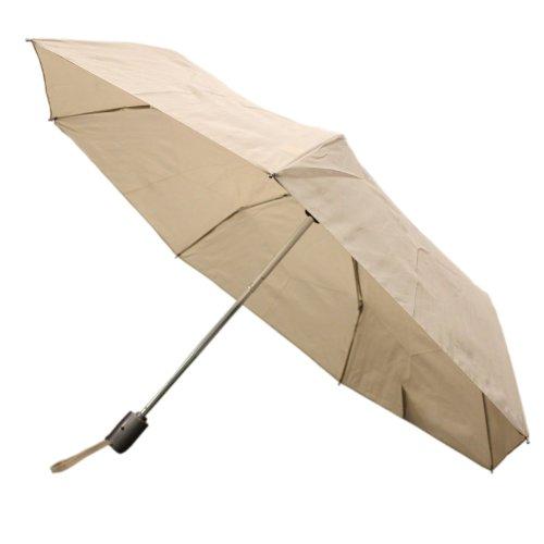 Totes Close Umbrella Handle Khaki