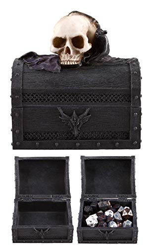Forged Dice Co. Deluxe Skull and Bat Dice Storage Box - Container Holds up to 6 Sets of Polyhedral Dice or 42 Individual Dice