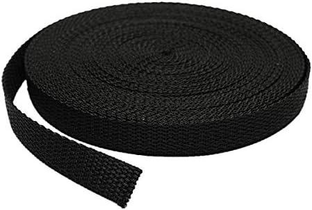RETON Black Nylon Heavy Polypro Webbing Straps 38MM, 10 Yards