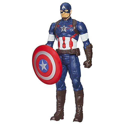 Captain+America Products : Marvel Avengers Age of Ultron Titan Hero Tech Captain America 12 Inch Figure