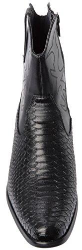 Boots Alberto Alberto Style Western Fellini Cowboy Black Fellini 5Ywqp