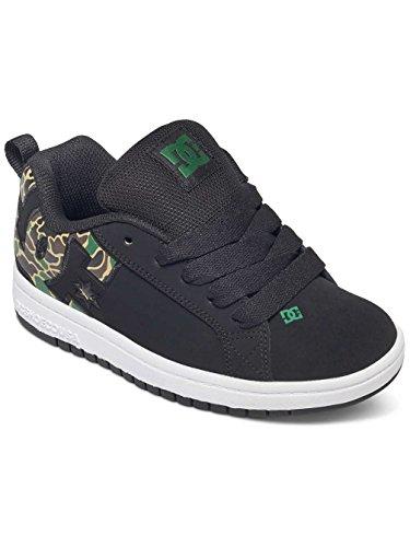 DC COURT GRAFFIK SE 301131A BLACK (BCM),scarpe bambino,ragazzo,sneakers,lacci,pelle
