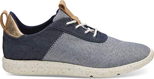 TOMS Women's Cabrillo Sneaker Navy Denim 8.5 - Denim Sneakers