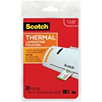 Scotch TP5851-20 Thermal Laminating Pouches, 2.3 Inches x 3.7 Inches, 20 Pouches, 2-PACK