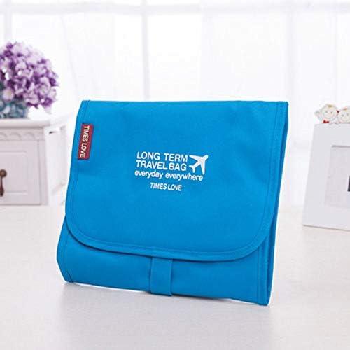 HUDEMR Gepäcktasche Hänge Travel Kulturbeutel 3 in 1 Wasserdichten beweglichen abnehmbaren Make-up kosmetischen Organizer Wash Pflege Taschen Travel Essentials-Bag (Color : Blue, Size : Free Size)
