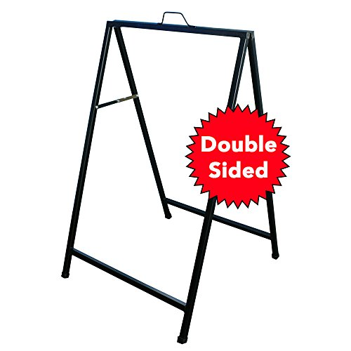 Metal Advertisement (A-Frame Sidewalk Sign - Heavy Duty Metal - for Outdoor Advertisement Use - 24